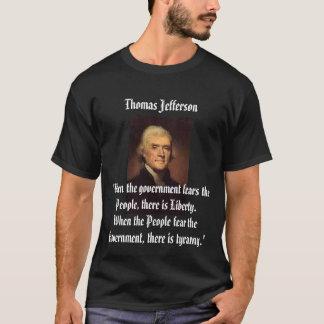 Jefferson en la camiseta de la tiranía
