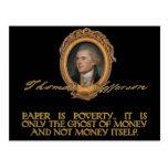 Jefferson en los billetes postal