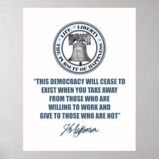 Jefferson - estado del bienestar póster