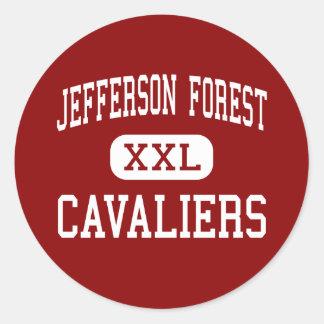 Jefferson Forest - Cavaliers - High - Forest Round Sticker