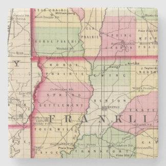 Jefferson, Franklin, Williamson counties Stone Coaster