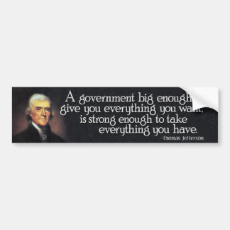 Jefferson Guárdese del gobierno grande Etiqueta De Parachoque