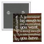 Jefferson: Guárdese del gobierno grande Pins
