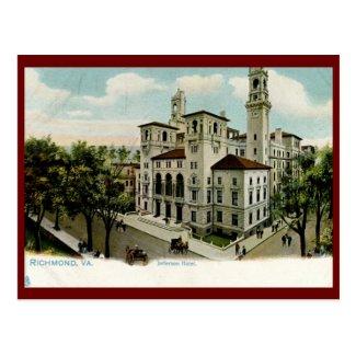 Jefferson Hotel, Richmond, VA Vintage Postcard