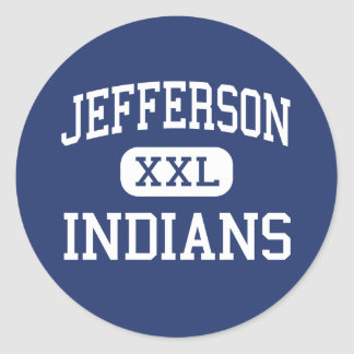 Jefferson - Indians - High - Daly City California Classic Round Sticker