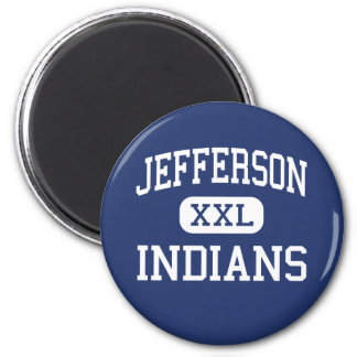 Jefferson - Indians - High - Daly City California 2 Inch Round Magnet