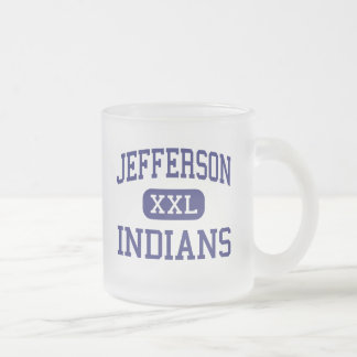 Jefferson - Indians - High - Daly City California 10 Oz Frosted Glass Coffee Mug