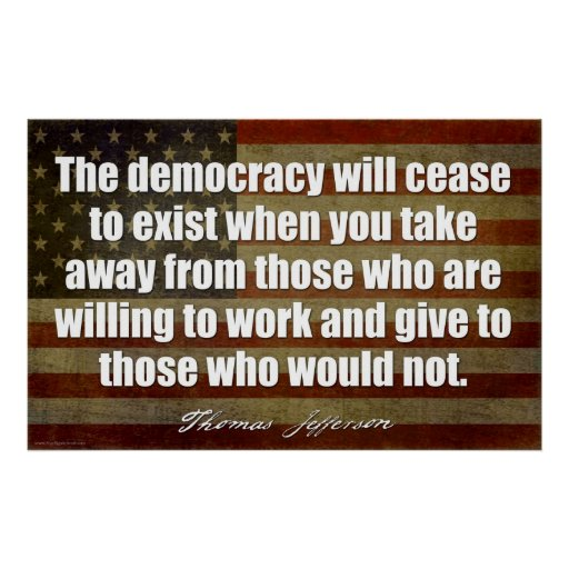 Jefferson: La democracia dejará de existir… Impresiones
