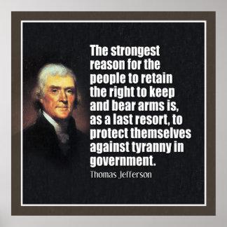 Jefferson: La derecha de llevar los brazos Impresiones