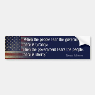 Jefferson: Libertad contra tiranía Etiqueta De Parachoque