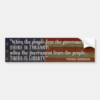 Jefferson: Libertad contra tiranía Pegatina Para Auto