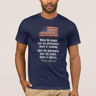 Jefferson: Libertad contra tiranía Playera