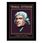 Jefferson - libertad tarjeta postal