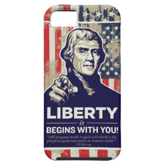 Jefferson Liberty Begins With You iPhone SE/5/5s Case