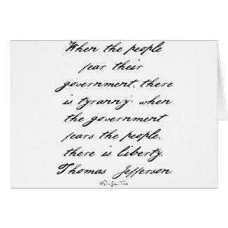 Jefferson Liberty Card