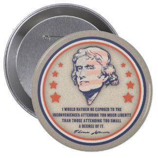 Jefferson Liberty II Pinback Button