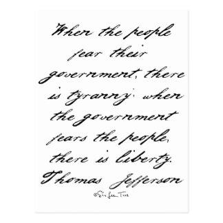 Jefferson Liberty Postcard
