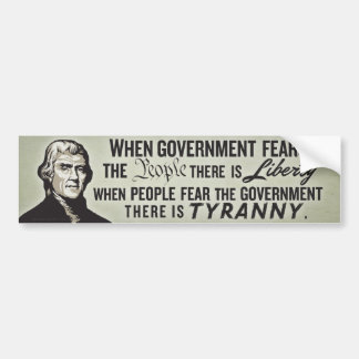 Jefferson Liberty Quote Bumper Sticker