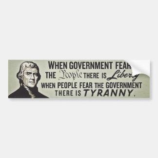 Jefferson Liberty & Tyranny Bumper Sticker