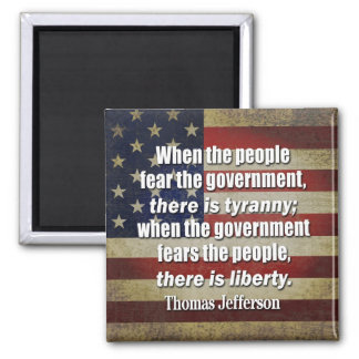 Jefferson: Liberty vs. Tyranny 2 Inch Square Magnet