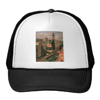 Jefferson Market, Sixth Avenue. New York c. 1917 Trucker Hat