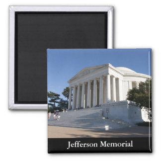 Jefferson Memorial 2 Inch Square Magnet