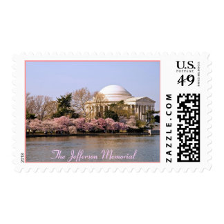 Jefferson Memorial at Cherry Blossom Time Postage Stamp