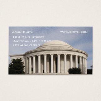 Jefferson Memorial Business Card