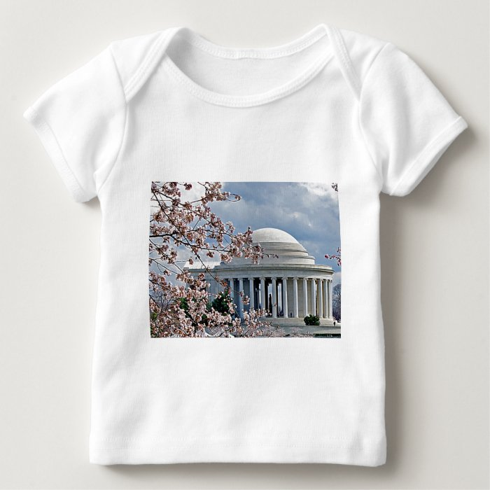 Jefferson Memorial - Cherry Blossoms Baby T-Shirt