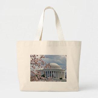 Jefferson Memorial - Cherry Blossoms Tote Bag