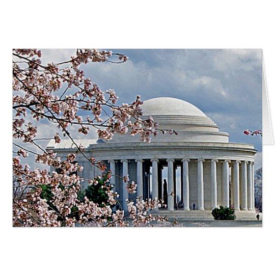 Jefferson Memorial - Cherry Blossoms Card