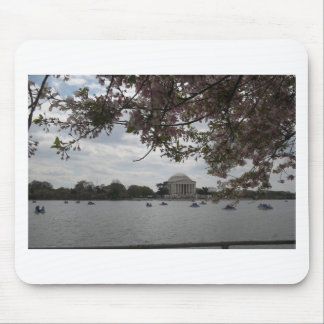 Jefferson Memorial During Cherry Blossom Festival Mouse Pad