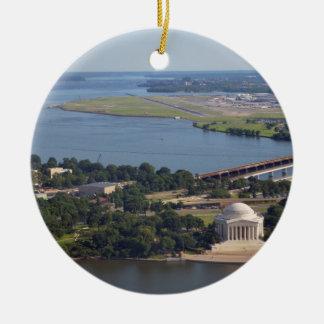 Jefferson Memorial from Washington Monument.jpg Ceramic Ornament