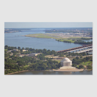 Jefferson Memorial from Washington Monument.jpg Rectangular Sticker