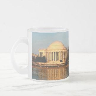 Jefferson  memorial frosted glass coffee mug