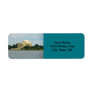 Jefferson Memorial in Washington DC Label