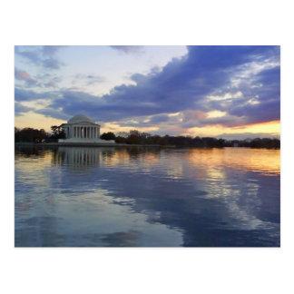 Jefferson Memorial Sunset Postcard