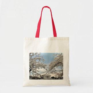 Jefferson Memorial Washington DC Cherry Blossoms Budget Tote Bag