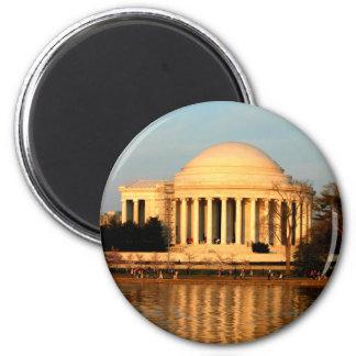 Jefferson Mermorial 2 Inch Round Magnet