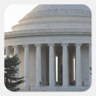 Jefferson Monument Square Sticker