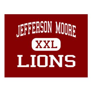 Jefferson Moore - leones - High School secundaria  Tarjeta Postal
