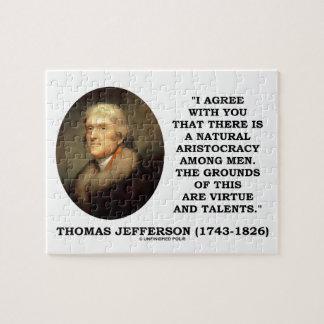 Jefferson Natural Aristocracy Among Virtue Talents Jigsaw Puzzle