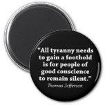 Jefferson: No siga siendo silencioso Iman De Nevera