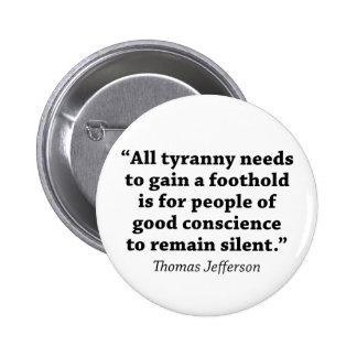 Jefferson No siga siendo silencioso Pin