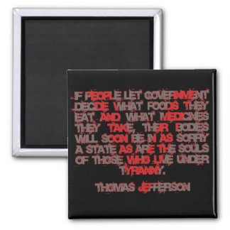 Jefferson on Food and Medicine 2 Inch Square Magnet