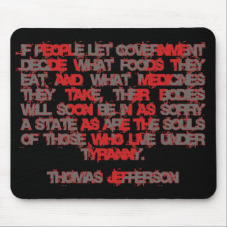 Jefferson on Food and Medicine Mouse Pads