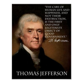 JEFFERSON ON LIFE POSTER