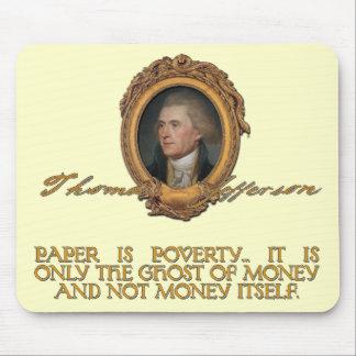 Jefferson on Paper Money Mouse Pad