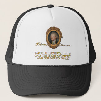Jefferson on Paper Money Trucker Hat