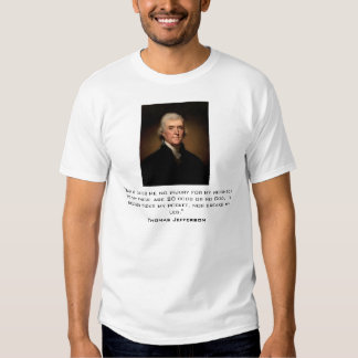 Jefferson on religious freedom shirt